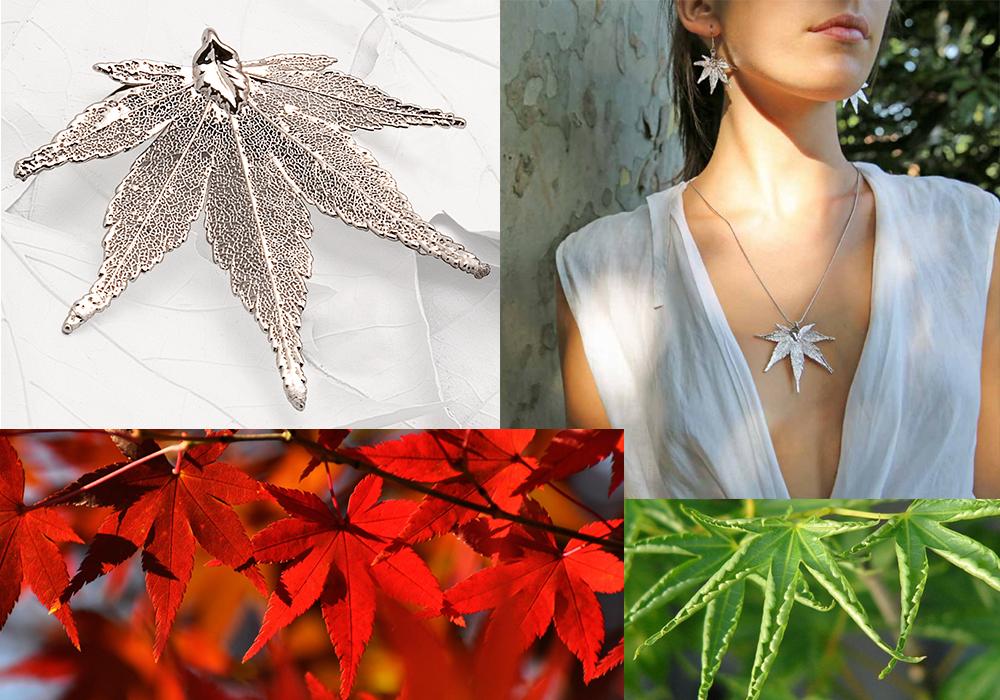 украшения на основе натуральных листьев Эстер Бижу